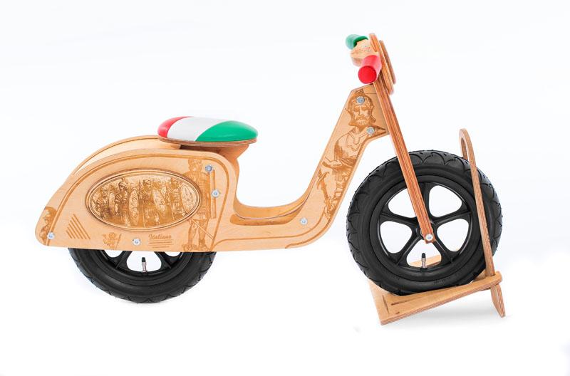 купить экологичный деревянный беговел Italiano киев